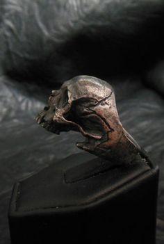 Sterling Silver Mens Ring Skull Ring Biker Masonic Rock Handmade Jewelry 925 | eBay