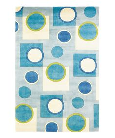 Love this Sky Blue Fizz Signature Wool Rug by KAS Rugs on #zulily! #zulilyfinds