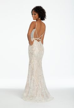 Pattern Sequin Strappy X-Back Dress from Camille La Vie and Group USA 178be29f9