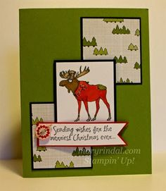 Visions of Santa Moose {scrap and stamp with mary}