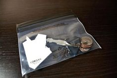hermetically sealed plastic bag for toiletries