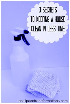 These 3 tips done over and over will cut your house cleaning time down to a minimum.