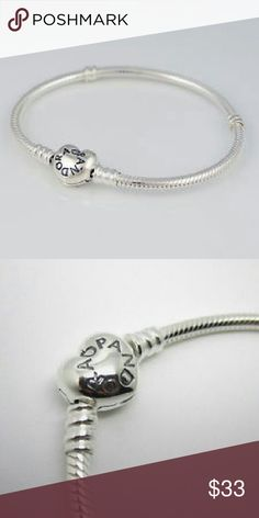 🎀Pandora Bracelet🎀 Bought off eBay as authentic. Doesn't come with box. Came in package. Never opened. If you need more pics, just ask. Add your own charms!!!   Hi Sweety! 😺 Thanks for looking at my closet! I always have some sort of sale going on and new items arrive weekly. Be sure to check back soon!!💋  Happy Shopping!💄👛💎🎀👗 Pandora Jewelry Bracelets
