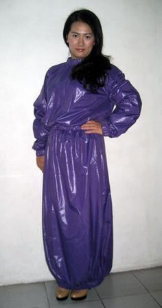 New shiny nylon wet look dress bespoke M - 3XL DR2098