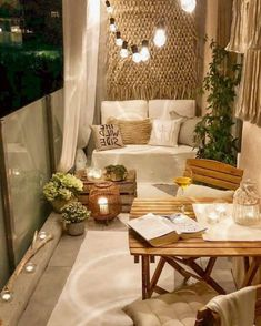 Small Patio Ideas - One thing that many men and women love to have is a wonderful apartment balcony design. You might think that you will need a large space for trying a balcony design, but this is not completely required. Apartment Balcony Decorating, Apartment Balconies, Apartment Living, Cozy Apartment Decor, Small Deck Decorating Ideas, Apartment Deck, Small Patio Ideas On A Budget, Apartment Patio Gardens, Lanai Ideas