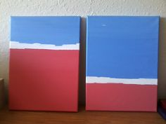 Pink and Blue Abstract by maddierosedoodles on Etsy, $35.00