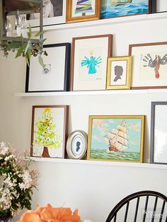 Put your walls to work. Optimize wall space for vertical display of artwork, seasonal decor, and photos.