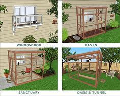 four types diy catio plans