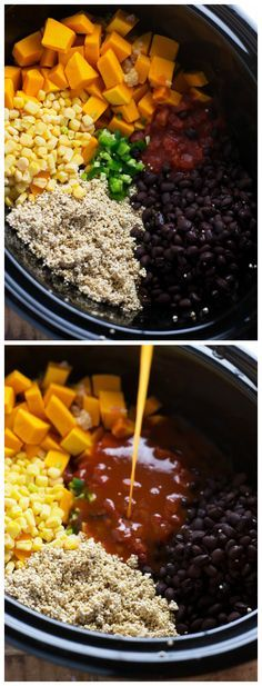 Slow Cooker Mexican Quinoa by chelseasmessyapron #Quinoa #Butternut_Squash #Corn #Black_Beans #Tomatoes #Healthy #Slow_Cooker #Easy