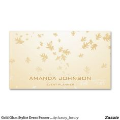 Gold Glam Stylist Event Panner Ombre Pack Of Standard Business Cards