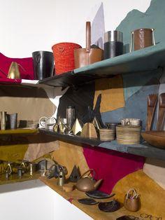 Carl Aubock goods at Patrick Parrish's Design Miami booth | sightunseen.com