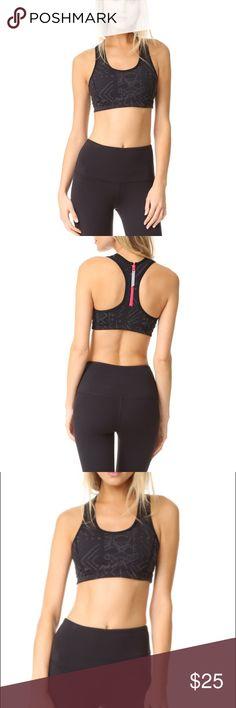 Free people Cleo reflective black sports bra Sz small and medium available Free People Intimates & Sleepwear Bras