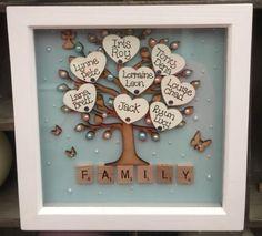 Framed family tree DIY project