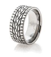 Titanium Nascar Tread Ring