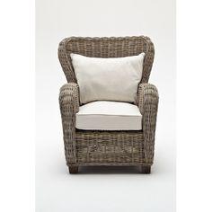 Found it at Wayfair - Wickerworks Queen Armchair with Cushion