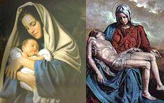 Jesús en brazos de María.