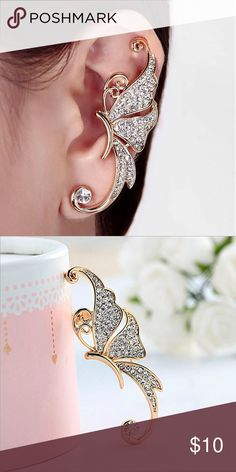 Butterfly earring clip on Single Butterfly earring clip on Jewelry Earrings http://www.bestjewelry4you.com/product-category/necklaces/