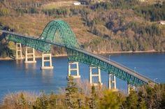 Seal Island Bridge Nova Scotia: The Seal Island Bridge is a fine piece of craftmanship that has made travel in Cape Breton, Nova Scotia by k. Nova Scotia, Cap Breton, Discover Canada, Canada Travel, Canada Trip, Atlantic Canada, Construction, Prince Edward Island, New Brunswick