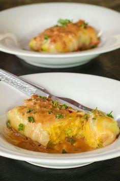 Vegetarian Stuffed Cabbage Rolls #stepbystep #recipe masalaherb.com