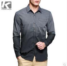 เสื้อผ้าผู้ชาย เสื้อเชิ้ตลายแถบดำเทา ไล่โทนอ่อนไปเข้ม http://www.sunday17.com/product/1039