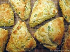 Easy Savory Cheese and Scallion Scones with Feta by Farmgirl Susan, via Flickr