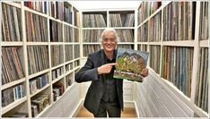 """rocknrollsamurai: """" Jimmy Page with his music collection """""""