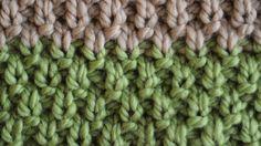 How to Knit the Irish Moss Stitch, Knit Stitch by Studio Knit