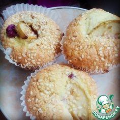 Кекс яблочно-смородиновый с кунжутом Маффин, Завтрак, Рецепты, Еда