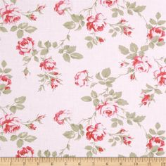 Petal Scattered Roses Pink from @fabricdotcom  Designed by Tanya Whelan for Free Spirit Fabrics, this cotton print is perfect for quilting and craft projects as well as apparel and home décor accents. Colors include pink, red, cream, and taupe.