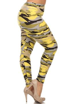 ef2f1bc1c2dbc Camouflage Plus Size Leggings - Yellow Camouflage Leggings, Orange Leggings,  Leggings Depot, Army
