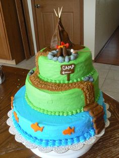 Camping Wolf Scouts Cub Eagle Scout Cake Cakes Birthday