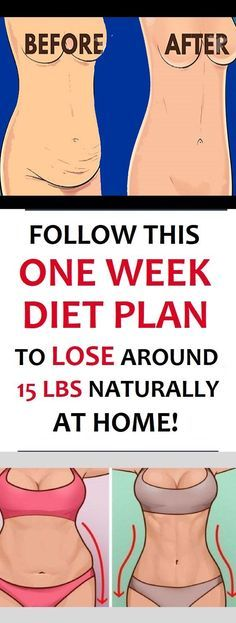 Follow This One-Week Diet Plan to Lose 15 Lbs Naturally at Home