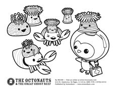 she suggests decorating with coloring pages printed on cardstock ... - Octonauts Coloring Pages Print