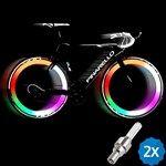 2pcs Multicolor LED Bicicleta Válvula Luz de Bici luz de Rueda