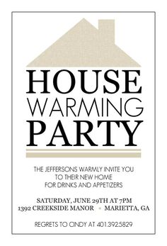 housewarming party invite idea