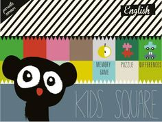 Kids Square for iPad & iPhone - 3 simple activities: memory game, 6 jigsaw puzzles and spot the difference game. Original Appysmarts score: 73/100