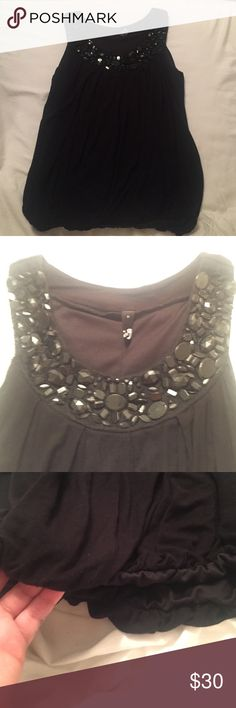 Embellished blouse tank Never worn, never fit me even in my thinner days, size small with no beading missing, so adorable, I would have loved to pair it with skinny jeans and heels Ing Tops