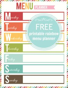 Free: Menu Planning printables daily monthly and a grocery list ...