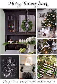 Modern Holiday Decor Ideas and Inspiration-  Best of Pinterest Pinboard via Frosted Events www.frostedevents.com  Christmas ideas and inspiration for modern decor, wreaths, gift wrapping, christmas tree, holiday party entertaining, ornaments, stockings, mantel #hoiday #christmas  @frostedevents