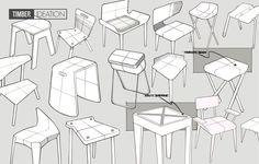 Timber tabouret souple de bois par Greg Howe  #design #tabouret #stool #furniture