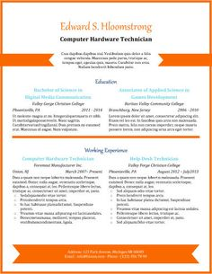 orange chevron professional resume templatebulleted listresume templatesfree - Professional Resume Template Free