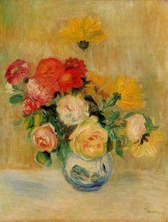 Pierre-August+Renoir+Vase+of+Roses+and+Dahlias.jpg (781×1030)