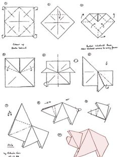 Bildergebnis für origami schwein