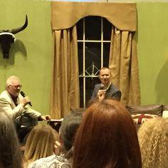 Mycroft (Mark Gatiss) on stage #iamsherlocked