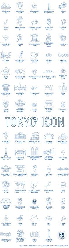東京の69の魅力がぎっしり詰まったワンプレート。東京の新しいお土産として重宝します。また、普段使いの器にもちょうど良いサイズです。〈意匠登録出願中〉