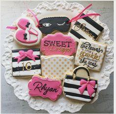 """Natasha on Instagram: """"Happy Sweet Dreams 16  Kate Spade Inspired slumber party #sweet16 #natsweets @dkaydesigns"""""""