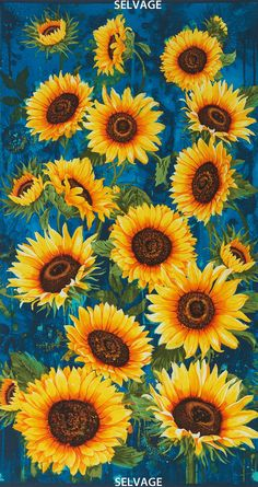 Sunflowers Large Scale Chong-a Hwang by lucyintheskyquilts on Etsy