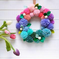 Buy tickets for Spring pompom wreath workshop, London. Information on Spring pompom wreath workshop, Sun, Mar 2018 @ - in London. Diy Spring Wreath, Diy Wreath, Spring Crafts, Wreaths, Hobbies And Crafts, Diy And Crafts, Arts And Crafts, Pom Pom Crafts, Yarn Crafts