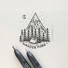 "nice Sam Larson on Instagram: ""WANDER ON... #art #illustration"""