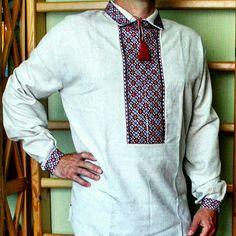 Vyshyvanka men's Ukrainian embroidered shirt Slavic wedding dress